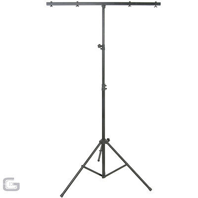 QTX LT01 T-Bar DJ Lighting Equipment Tripod Tbar Stand 2.5M 30kg Load 8 Mounts
