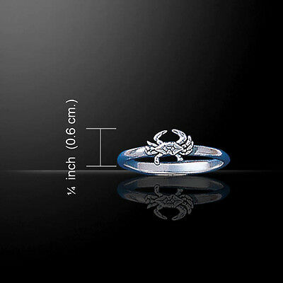 Sea Life Box Jellyfish  Sterling Silver Wrap Ring by Peter Stone Fine Jewelry