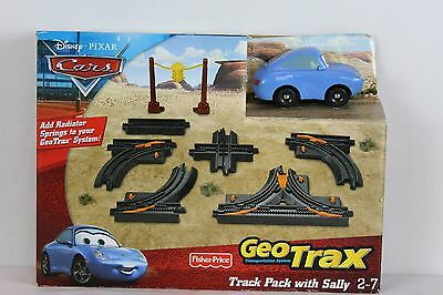 Disney Pixar Cars Track Pack w/ Sally GeoTrax Trains Toy New Kids Gas Station