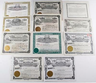 Idaho Mining Stock Certificate Collection  ~ (11)  1911-1946