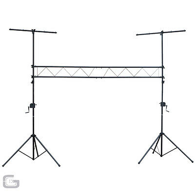 NJS Steel Lighting Stand Bridge 3M Winch T-Bar Truss Trussing DJ Light System