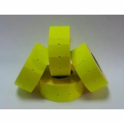 10,000 FLUORESCENT Yellow Permanent CT1 Price Gun Labels For Motex MX-5500