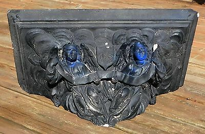 Antique 1800s ANGEL SHELF Corbel for STATION OF THE CROSS Paint Worn Away
