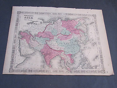 1862 Asia Johnson's and Ward Map Russia China India