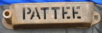 Pattee Plow Cast Iron Tractor Implement Tool Box Tray 276 Vintage Farming Equip
