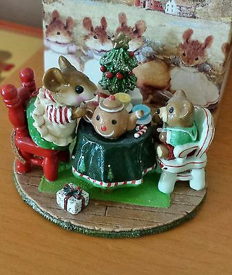 """Wee Forest Folk M-177c """"Christmas Tea for Three"""" LIMITED EDITION 2007 Mint"""