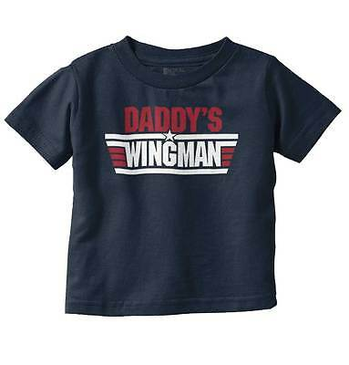 Daddy Wingman Baby Boy Clothes   Fathers Day Gift Infant Toddler T-Shirt