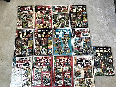 Marvel Collectors Item Classic Lot of 13 #2, 3, 4, 5x3  6, 7, 9, 10, 10-12 OLD