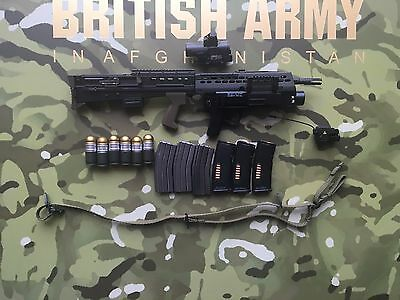 DAMTOYS British Army Afghanistan L85A2 Rifle w/ SA-80 Launcher loose 1/6th scale