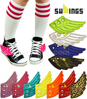 5a048b7a37 SHWINGS REFLECTIVE GREY Lace Up Wings For Your Shoes -  7.99