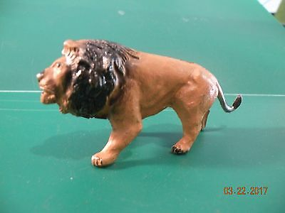 Vintage  T & B made in england  Lion Figure metal lion toy R14