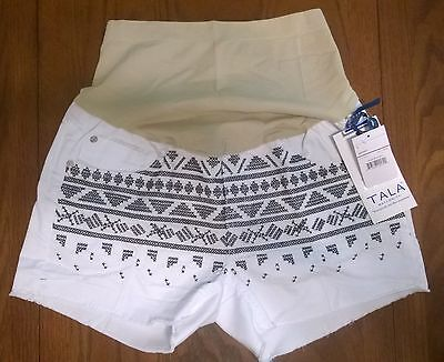 Tala Maternity Shorts, Tribal Pattern, Navy/white, Size: Large, $42.00, Nwt.....