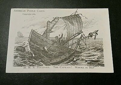 1880 Antique Victorian American Puzzle Trade Card Geo Strong Boots & Shoes