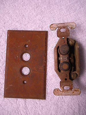 Vintage Antique  Push Button Light Switch Rare