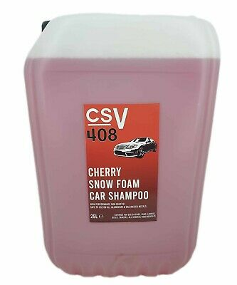 XTREME CHERRY SNOWFOAM 25 Litre Container - NON CAUSTIC - RICH FORMULA SNOW FOAM
