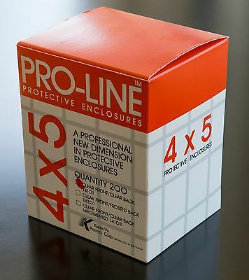 pro-line 4x5 film protective sleeves 200 count Clear front/clear back