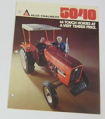 Allis Chalmers 5040 Tractor Brochure South Dakota Dealer Stamp