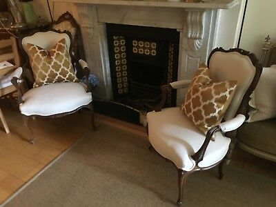 Beautiful  French Armchair Real Antique, Has Been Restored
