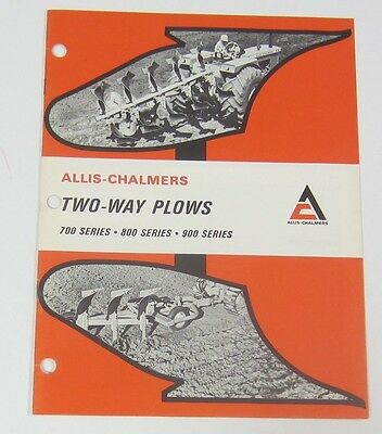 Allis Chalmers Two-Way Plows Brochure