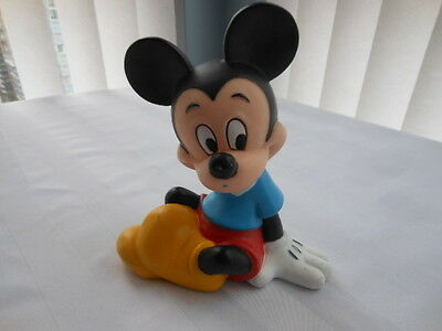 Disney Mickey Mouse Piggy Bank Coin Money Hard Plastic Toy Collectible