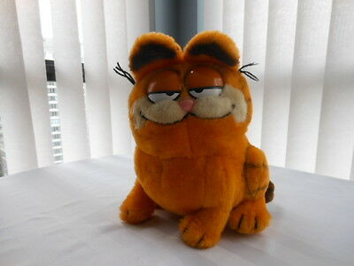 "Vintage Garfield Plush Animal, 10"" Tall, 1981 United Feature Syndicate, Inc."
