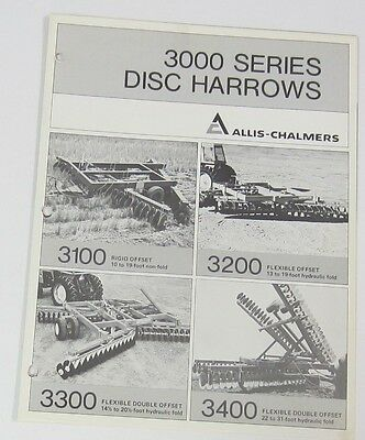 Single Sheet Allis Chalmers 3000 Disc Brochure