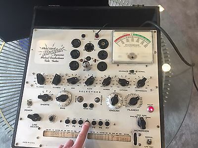 Vintage Hickok Mutual Conductance Tube Tester Model 533A CLEAN Works!