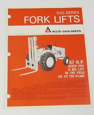 Single Sheet Allis Chalmers 500 Series Fork Lift Brochure