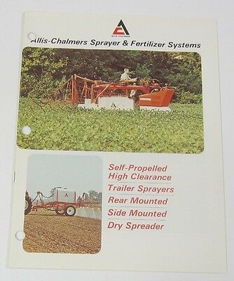 """RARE"" Allis Chalmers Sprayer and Fertilizer Sysytems Brochure"