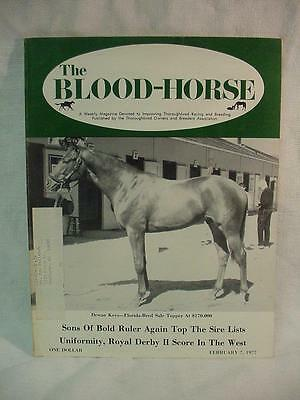 Blood Horse Magazine February 7, 1977 - Dewan Keys