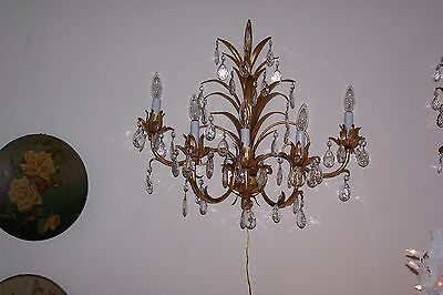 Gorgeous  Gilted Tole Large Sconce