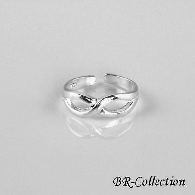 Pure Sterling Silver Infinity Toe Ring