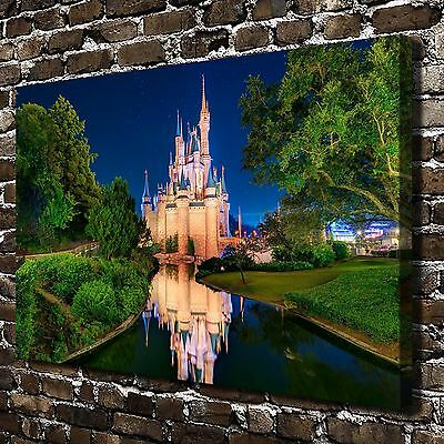 """12""""x18""""Disney castle Paintings HD Print on Canvas Home Decor Wall Art Picture"""