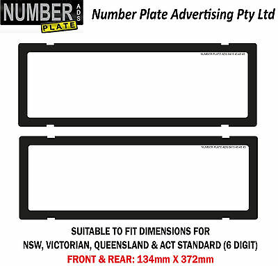 Number Plate Cover 6 Digit - Clip On - No Lines (NSW,QLD,VIC,ACT,WA,SA)