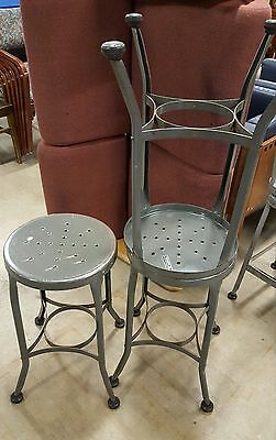 Toledo UHL Vintage Metal Industrial Stool Chair 30 inch Height