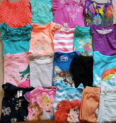Large 19-piece Lot Girl Clothes, size 7/8- EUC - Spring/Summer