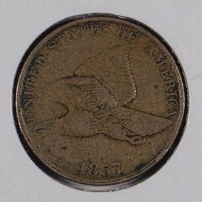 1857 1C Flying Eagle Cent Fine Condition #165596