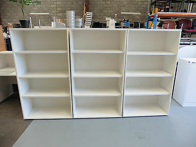 Office 1600Mm White Timber Bookcase Brisbane