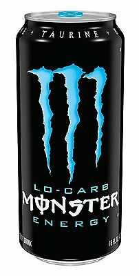 Monster Energy, Lo-Carb, 16 Ounce Pack of 24