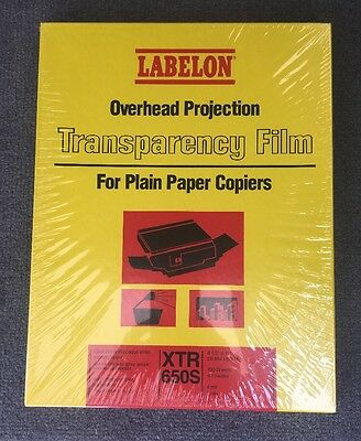 Labelon XRS-650S Overhead Projection Transparency Film 100 sheets
