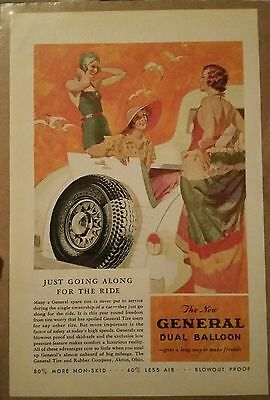 1933 New General Dual Balloon Tire Ad Swimsuit