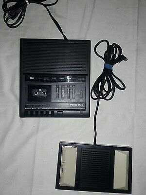 Panasonic Microcassette Transcriber RR-930 Working With Foot Control