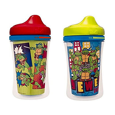 Baby Nuk Sippy Cup Spill Proof Insulated Hard Spout 2 Pack Ninja Turtle Gerber