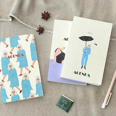 [MON PETIT DIARY UNDATED] Daily Weekly Monthly Yearly Journal Planner Note Paper