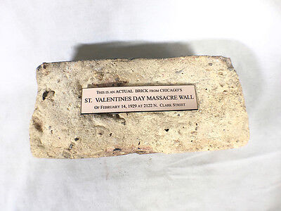 St. Valentines Day Massacre Wall Brick Fully Authenticated with Documentation