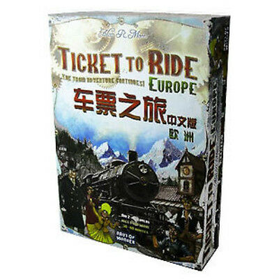 75 车票之旅-欧洲 Ticket To Ride 中文版 BoardGame Toy 经典聚会游戏 FREE SHIPPING