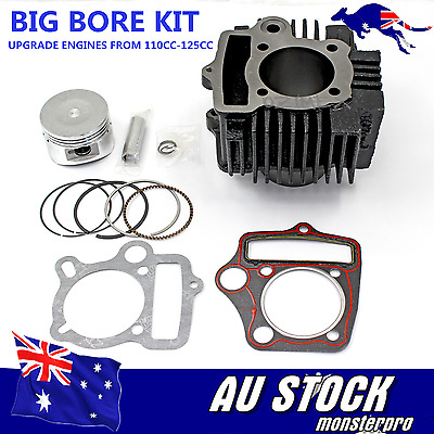 Big Bore Engine Rebuild Kit Cylinder Barrel 54mm Piston Ring Gasket 110/125cc