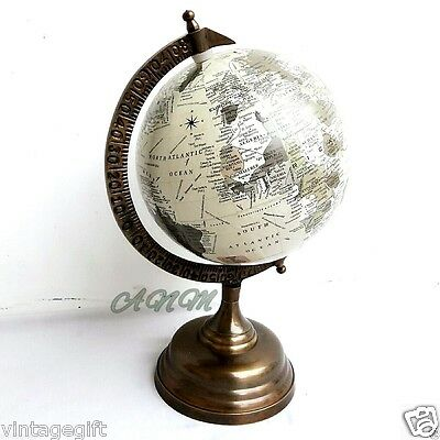 Base World Globe Vintage Style Table Top Decorative Globes Antique Item