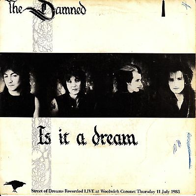 """7"""" PROMO the DAMNED is it a dream / street of SPANISH PROMOTIONAL 1985 SINGLE 45"""