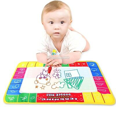 Water Drawing Toys Mat&1 Magic Pen/Water Drawing Board Baby Play ElR8